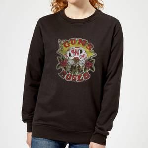 Guns N Roses Cards Women's Sweatshirt - Black