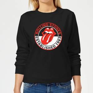 Rolling Stones Est 62 Women's Sweatshirt - Black