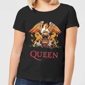Queen Crest Damen T-Shirt - Schwarz