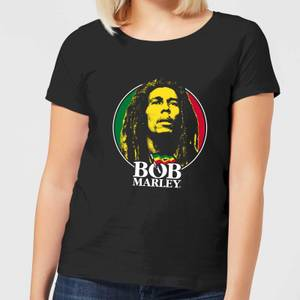 Bob Marley Face Logo Women's T-Shirt - Black