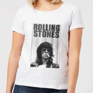 Rolling Stones Keith Smoking Damen T-Shirt - Weiß
