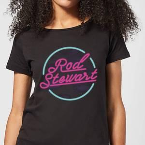 Rod Stewart Neon Damen T-Shirt - Schwarz