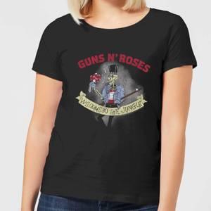 Guns N Roses Jungle Skeleton Women's T-Shirt - Black
