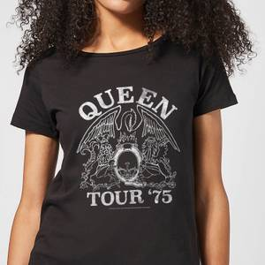 Queen Tour 75 Damen T-Shirt - Schwarz