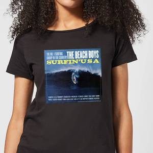 The Beach Boys Surfin USA Damen T-Shirt - Schwarz