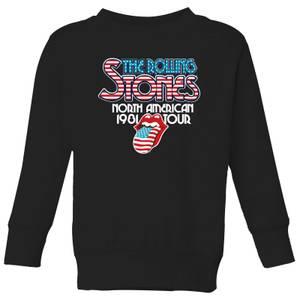 Rolling Stones 81 Tour Logo Kids' Sweatshirt - Black