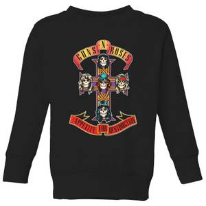 Guns N Roses Appetite For Destruction Kids' Sweatshirt - Black