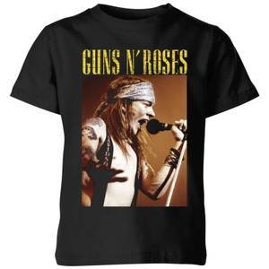 Guns N Roses Axel Live Kids' T-Shirt - Black