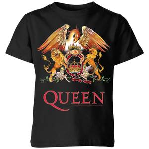 Queen Crest Kinder T-Shirt - Schwarz
