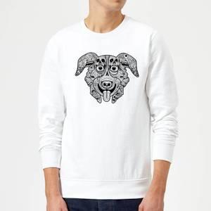 Mr Pickles Pattern Face Sweatshirt - White