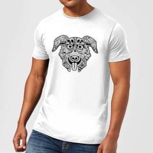 Mr Pickles Pattern Face Men's T-Shirt - White