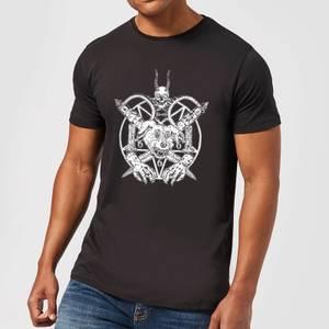 Mr Pickles Pentogram Drawn Dog Head Men's T-Shirt - Black