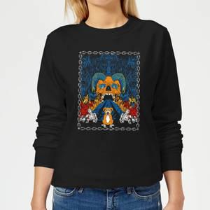 Mr Pickles Retro Print Women's Sweatshirt - Black