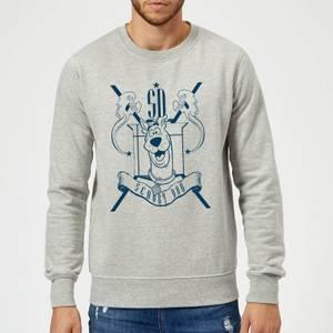 Scooby Doo Coat Of Arms Sweatshirt - Grey