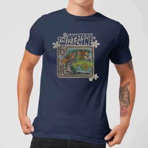 Scooby Doo Mystery Machine Psychedelic Men's T-Shirt - Navy