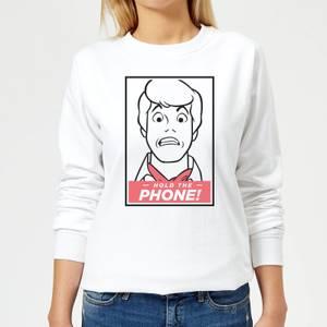 Scooby Doo Hold The Phone Women's Sweatshirt - White