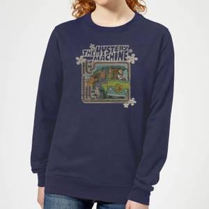 Scooby Doo Mystery Machine Psychedelic Women's Sweatshirt - Navy