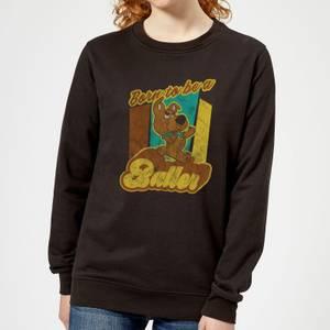 Scooby Doo Born To Be A Baller Women's Sweatshirt - Black