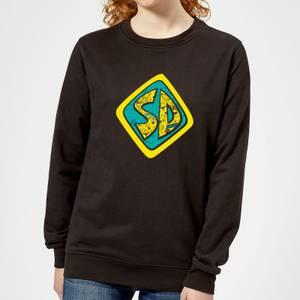 Scooby Doo Emblem Women's Sweatshirt - Black