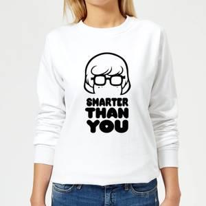 Scooby Doo Smarter Than You Women's Sweatshirt - White