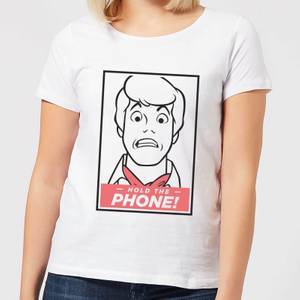 Scooby Doo Hold The Phone Women's T-Shirt - White