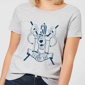 Scooby Doo Coat Of Arms Women's T-Shirt - Grey