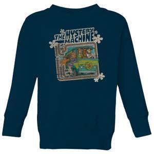 Scooby Doo Mystery Machine Psychedelic Kids' Sweatshirt - Navy