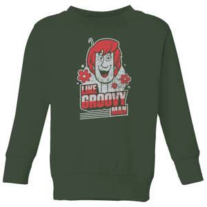 Scooby Doo Like, Groovy Man Kids' Sweatshirt - Forest Green