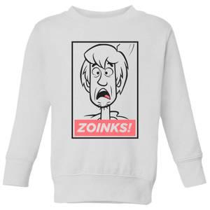 Scooby Doo Zoinks! Kids' Sweatshirt - White