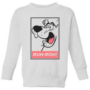 Scooby Doo Ruh-Roh! Kids' Sweatshirt - White