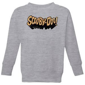Scooby Doo Retro Colour Logo Kids' Sweatshirt - Grey