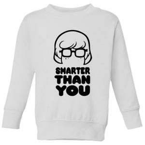 Scooby Doo Smarter Than You Kids' Sweatshirt - White
