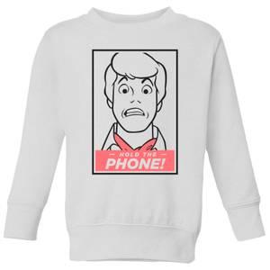 Scooby Doo Hold The Phone Kids' Sweatshirt - White