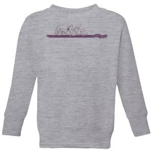 Scooby Doo Those Meddling Kids Retro Kids' Sweatshirt - Grey