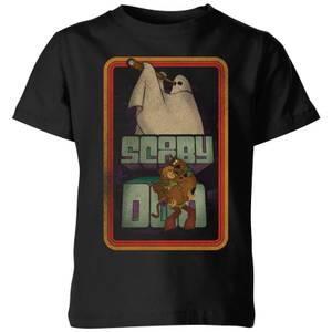 Scooby Doo Retro Ghostie Kids' T-Shirt - Black