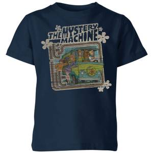 Scooby Doo Mystery Machine Psychedelic Kids' T-Shirt - Navy