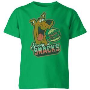Scooby Doo Scooby Snacks Kids' T-Shirt - Kelly Green