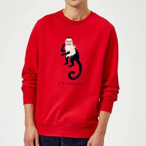 Friends Marcel The Monkey Sweatshirt - Red