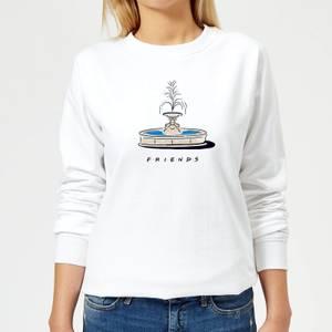 Friends Fountain Women's Sweatshirt - White