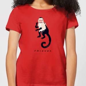 Friends Marcel The Monkey Women's T-Shirt - Red