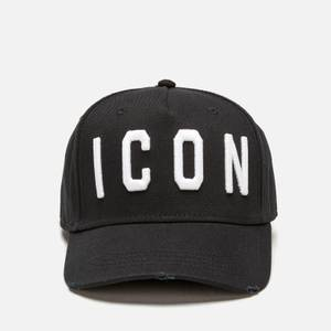 Dsquared2 Men's Icon Embroidered Cap - Black/White