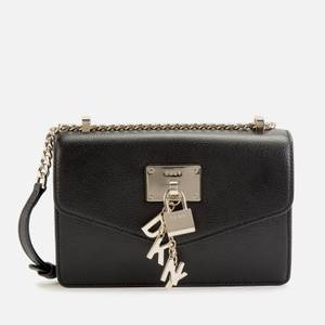 DKNY Women's Elissa Small Shoulder Flap Bag - Black/Gold