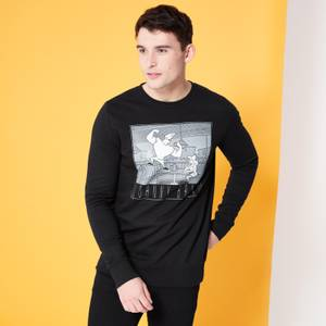 Cartoon Network Spin Off Sweat-shirt Johnny Bravo Scène Classique - Noir