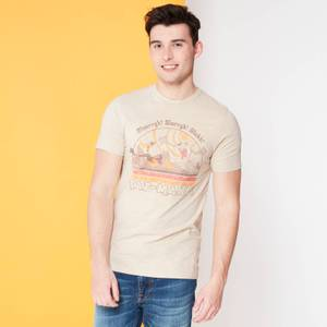 Looney Tunes Kaboom Collection Taz-Mania Men's T-Shirt - Stone Wash- Cream