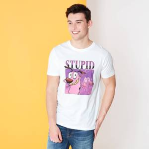 Cartoon Network Spin-Off Courage The Cowardly Dog 90's Photoshoot T-Shirt - Weiß