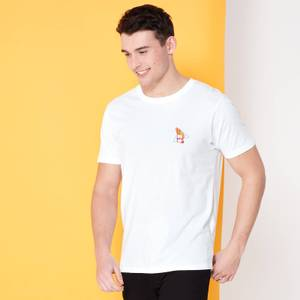 Cartoon Network Spin-Off Johnny Bravo 90's Embroidered Pocket T-Shirt - White
