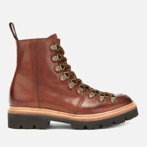 Grenson Women's Nanette Hand Painted Leather Hiking Style Boots - Tan