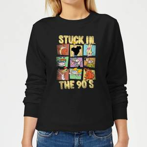 Cartoon Network Stuck In The 90s Women's Sweatshirt - Black