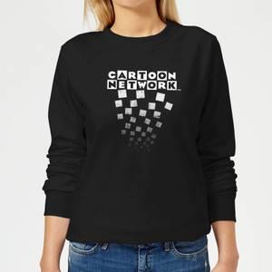 Cartoon Network Logo Fade Women's Sweatshirt - Black