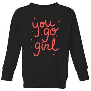 You Go Girl Kids' Sweatshirt - Black